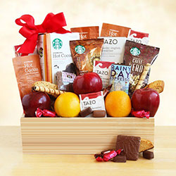 Starbucks Select and Fruit in a Crate - Fruit Gift