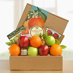 Golden State Deluxe Fruit and Cheese Box - Fruit Gift
