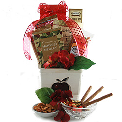 Healthy gift baskets organic gluten free kosher diygb apple a day gourmet gift basket negle