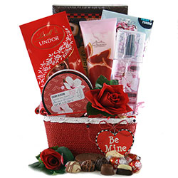 Be Mine Valentines Day Gift Baskets