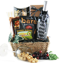 Black Tie Optional - Red Wine Gift Basket