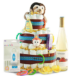 Bottoms Up New Baby Diaper Cake