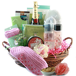 Bubbles - Wine Gift Basket
