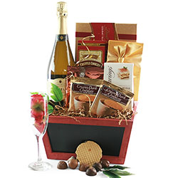 Champagne & Strawberries -  Wine Gift Basket