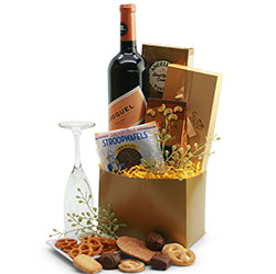 Champagne Taste -White Wine Gift Basket