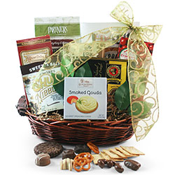 Gourmet Snacks & Chocolate Celebrations Gift Basket