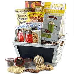 Coffee & Cookies <BR> K-Cup & Cookie Gift Basket