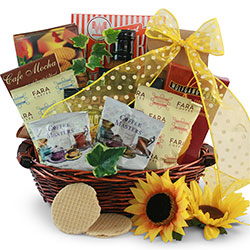 Coffee Cravings - Coffee Gift Basket