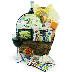 Congrats to the Grad - Garduation Gif Basket