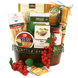 Italian gift baskets gourmet italian pasta baskets diygb dinner for two italian gift basket negle Image collections