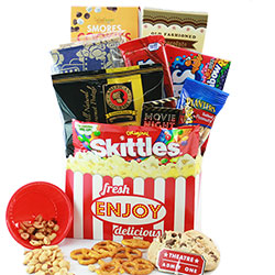 Double Feature - Movie Night Gift Basket
