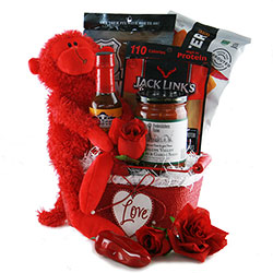 Valentines day gift baskets valentines gifts for him her diygb feel the heat valentine gift basket negle Image collections