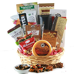 Fields of Chocolate & Snacks Gift Basket