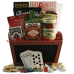 Full House - Poker Gift Basket
