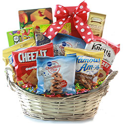 Care packages for college students graduation gift baskets diygb for the fun of it snack gift basket negle Gallery