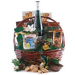 Gourmet Tidings Christmas Wine Gift Baskets