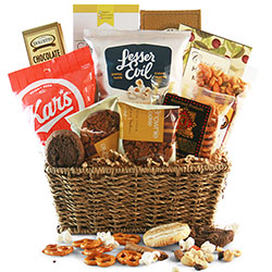 Gourmet Treats Snack Baskets