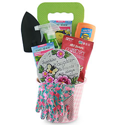 Love Grows Here Gardening Gift Basket