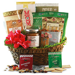 Healthy Gift Basket for Mothers Day