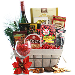 Holiday Delight  - Holiday Wine Gift Basket