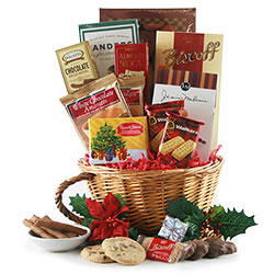 Holiday Greetings Christmas Baskets