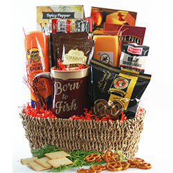 Grandparents day gifts gift baskets for grandparents diygb hook line and sinker fishing gift basket negle Image collections