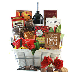 How Sweet It Is Red Wine & Chocolate Gift Basket