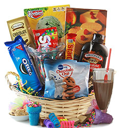 Easter gift baskets easter baskets for adults kids diygb ice cream party ice cream gift basket negle Choice Image