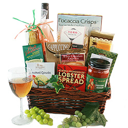 Italian Wine & Cheese  - Wine Gift Basket