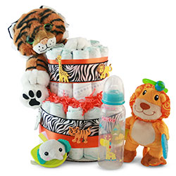 It's a Jungle out There - Diaper Cake
