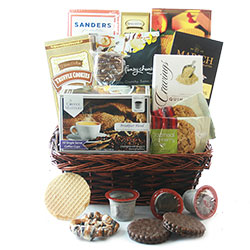 K-Cup and Chocolate Gift Basket