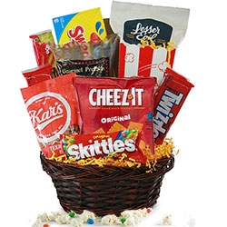 Lights, Camera, Action - Movie Night Gift Basket