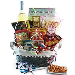 Make a Wish - Birthday Wine Gift Basket