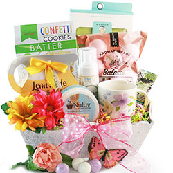 Moms Day Off Mothers Day Gift Basket