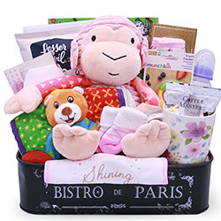 Monkey Business - Baby Gift Basket