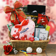 Must Love Golf Valentines Baskets