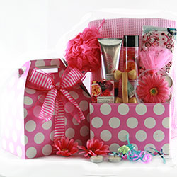 Pamper Me Pink Spa Baskets