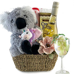 Proud Parents - Baby  & Wine Gift Basket