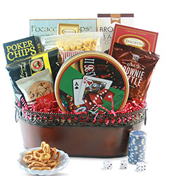 Royal Flush - Poker Gift Basket