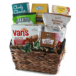 Healthy gift baskets organic gluten free kosher diygb simple snacks gluten free snack gift basket negle Image collections