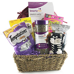 Smarty Cat - Cat Gift Basket