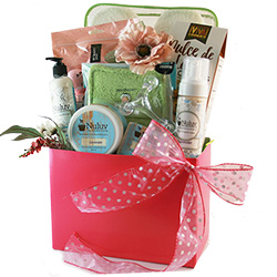 Spa Bliss - Spa Wine Gift Basket
