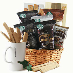 Fathers Day Starbucks Baskets