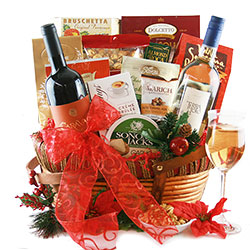 St. Nicks Nibbles Christmas Wine Baskets