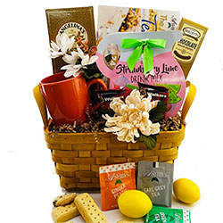 Tea & Cookies - Tea Gift Basket