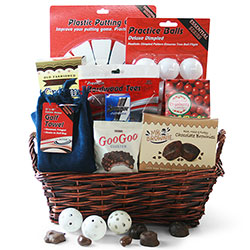 Tee-rificly Delicous Golf Gift Basket