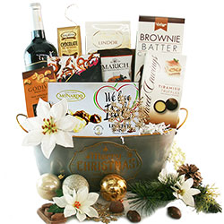 Christmas wine gift baskets diygb toast the season christmas gift basket negle