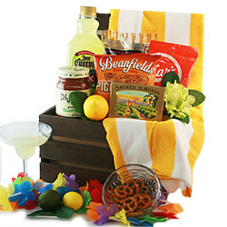 Tropical Treasures - Beach Gift Basket