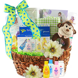 Welcome Baby New Baby Gift Baskets