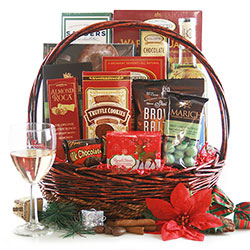 White Wine Christmas Christmas Gift Basket